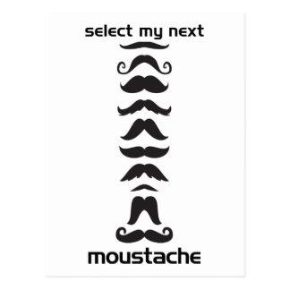 Ligne de moustache carte postale