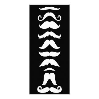 Ligne de moustache motif pour double carte