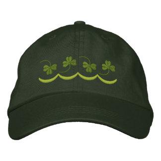 Ligne de shamrock casquette brodée