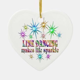 Ligne étincelles de danse ornement cœur en céramique