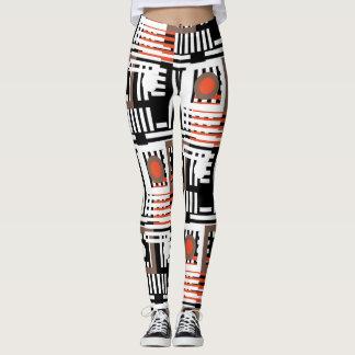 ligne guêtres rondes de motif de mélange leggings