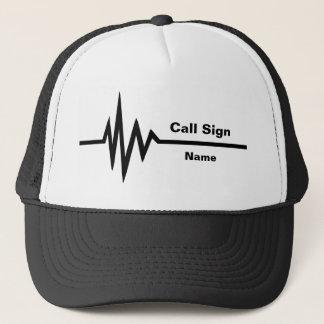 Ligne indicatif d'appel de fréquence et casquette