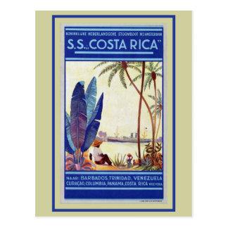 Ligne maritime Costa Rica de croisière Carte Postale