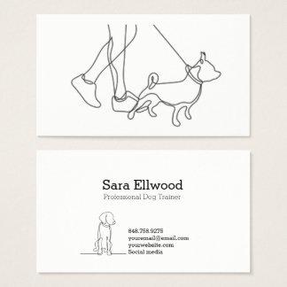 Ligne minimaliste carte de visite de chien noir et