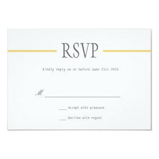 Ligne moderne épousant des cartes de RSVP dans Faire-part Personnalisé
