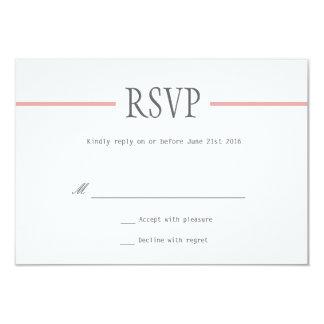 Ligne moderne épousant des cartes de RSVP dans le Cartons D'invitation