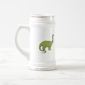Ligne mono de brontosaure chope à bière