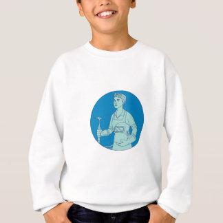 Ligne mono de soudeuse de torche femelle de sweatshirt
