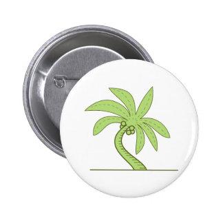 Ligne mono incurvée de palmier badge