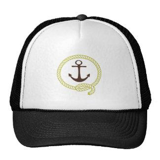 Ligne nautique illustration d'ancre de marin de co casquette de camionneur