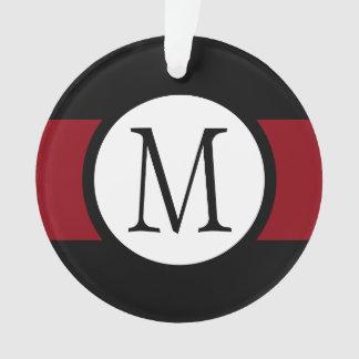 Ligne noire, blanche et rouge élégamment élégante
