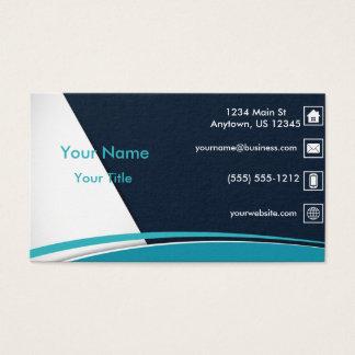 Ligne onduleuse bleue cartes de visite
