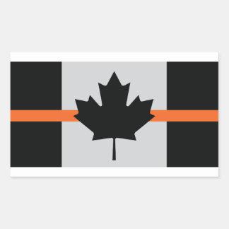 Ligne orange mince autocollant du Canada