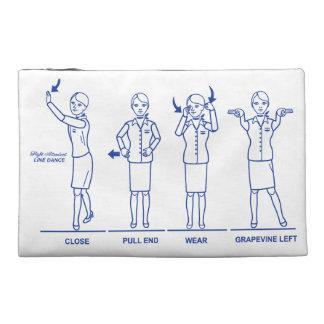 Ligne poche de steward (hôtesse de l'air) de trousse à accessoires de voyage