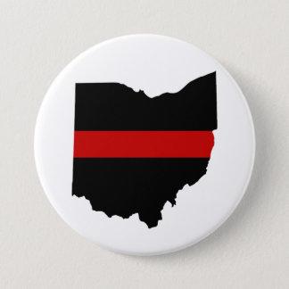 Ligne rouge mince bouton de l'Ohio Badge