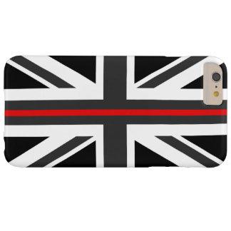 Ligne rouge mince drapeau du R-U Coque iPhone 6 Plus Barely There