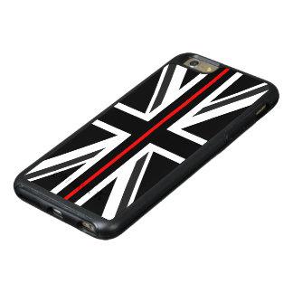 Ligne rouge mince drapeau du R-U Coque OtterBox iPhone 6 Et 6s Plus