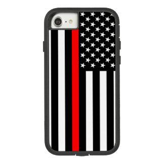 Ligne rouge mince symbole de drapeau américain des coque Case-Mate tough extreme iPhone 7