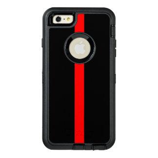 Ligne rouge mince symbolique dessus coque OtterBox iPhone 6 et 6s plus