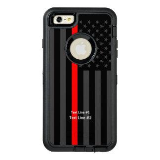 Ligne rouge symbolique personnalisée de drapeau coque OtterBox iPhone 6 et 6s plus