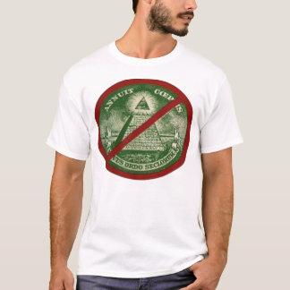 Ligne T-shirt d'ANTI-ILLUMINATI pour les hommes