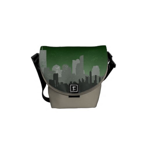 Ligne urbaine mini messager (vert) de ciel de posi besace