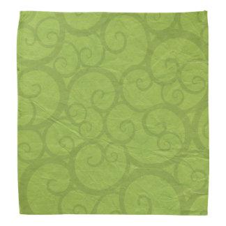 Ligne vert de boucles bandanas