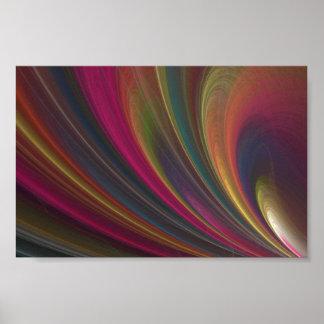 Lignes abstraites de fractale posters