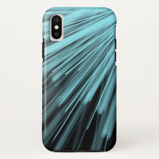 Lignes angulaires d'Aqua - coque iphone d'Apple
