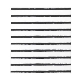 Lignes approximatives blanches motif de noir blocs notes