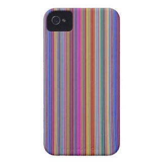 Lignes colorées graphi de milieux créatifs de coques iPhone 4 Case-Mate
