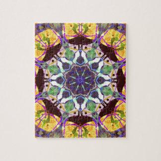 Lignes concentriques de couleur puzzle