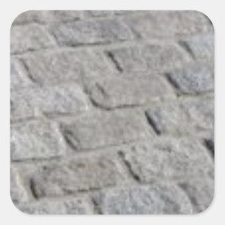 lignes de pierre sticker carré