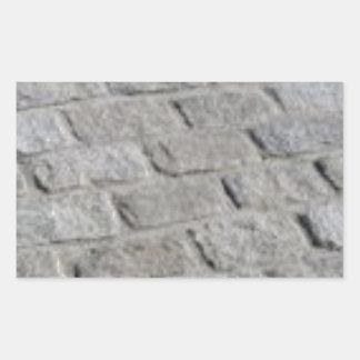 lignes de pierre sticker rectangulaire