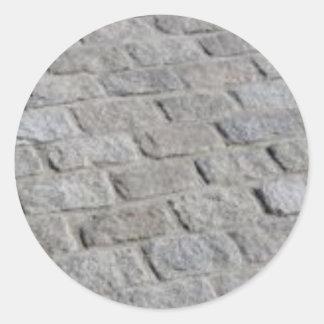 lignes de pierre sticker rond