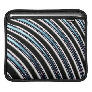 Lignes incurvées étroitement d'une fractale housses iPad