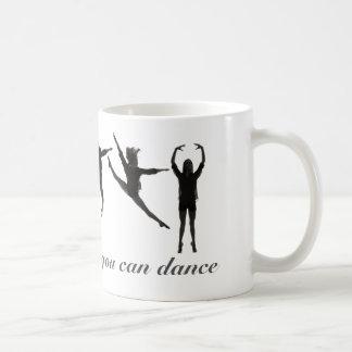 Lignes inspirées de tasse de café de danse belles