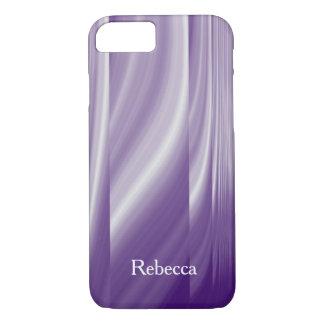 lignes lilas pourpres métalliques de motif de la coque iPhone 7