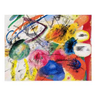 Lignes noires carte postale de Kandinsky