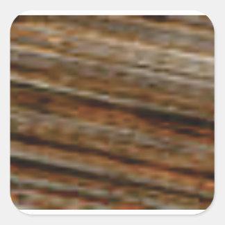 lignes obliques de bois de charpente sticker carré