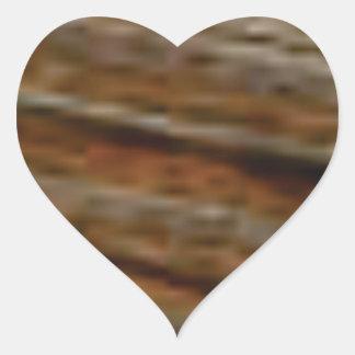 lignes obliques de bois de charpente sticker cœur