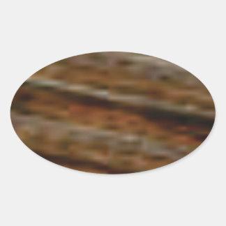 lignes obliques de bois de charpente sticker ovale