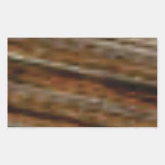 lignes obliques de bois de charpente sticker rectangulaire