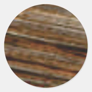lignes obliques de bois de charpente sticker rond