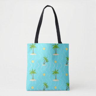 Lignes onduleuses motif de palmiers fantastiques sac