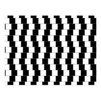 Lignes parallèles cartes postales