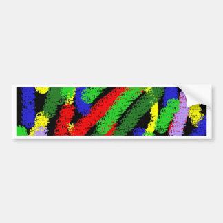 Lignes pas droites fluorescentes colorées autocollant pour voiture