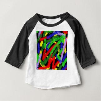 Lignes pas droites fluorescentes colorées t-shirt pour bébé