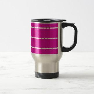 Lignes pointillées simples résumé de roses indien mug de voyage