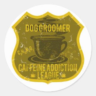 Ligue de dépendance de caféine de Groomer de chien Adhésif Rond